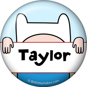 Adventure Time Personalized Mini Button (Each)