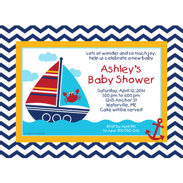 Ahoy Matey Personalized Invitation (Each)