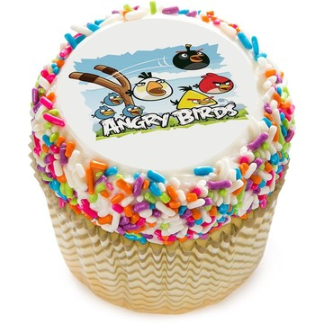 "Angry Birds 2"" Edible Cupcake Topper (12 Images)"