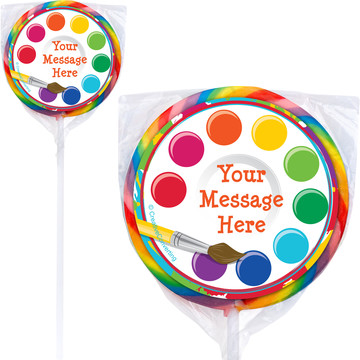 Art Party Personalized Lollipops (12 Pack)
