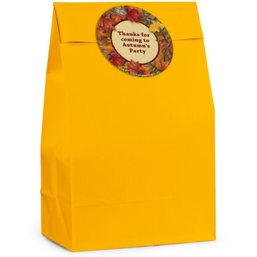 Autumn Leaves Personalized Favor Bag (Set Of 12)