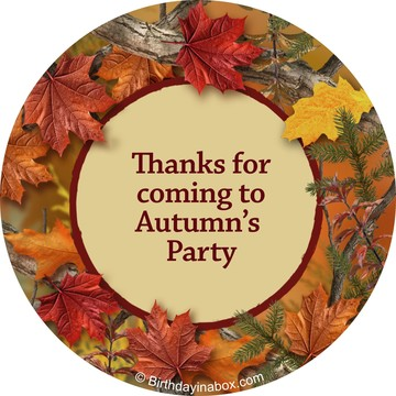 Autumn Leaves Personalized Stickers (Sheet of 12)