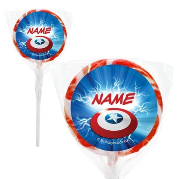 "Avenging Heroes Personalized 2"" Lollipops (20 Pack)"