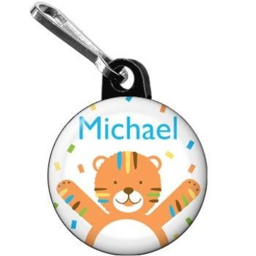 Baby Animals 1st Birthday Boy Personalized Mini Zipper Pull (each)