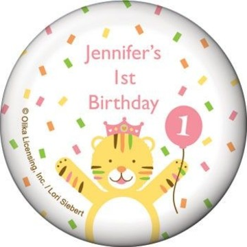 Baby Animals 1st Birthday Girl Personalized Magnet (each)