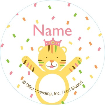 Baby Animals 1st Birthday Girl Personalized Mini Stickers (Sheet of 20)