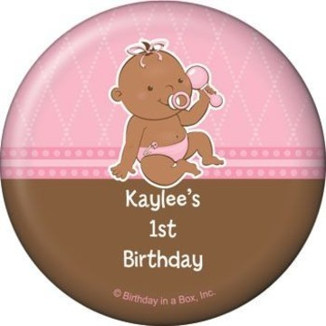 Baby Girl - African American Personalized Magnet (each)