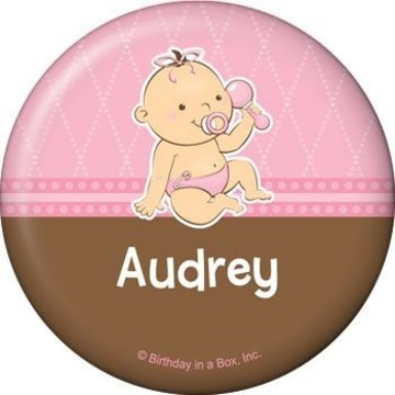 Baby Girl Personalized Button (each)