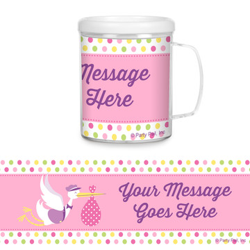 Baby Girl Stork Personalized Favor Mug (Each)