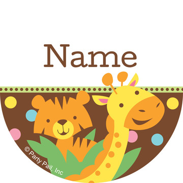 Baby Jungle Personalized Mini Stickers (Sheet of 24)