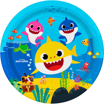 "Baby Shark 9"" Lunch Plates, 8ct"