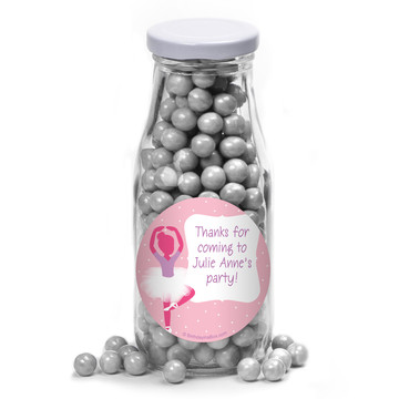 Ballerina Personalized Glass Milk Bottles (10 Count)