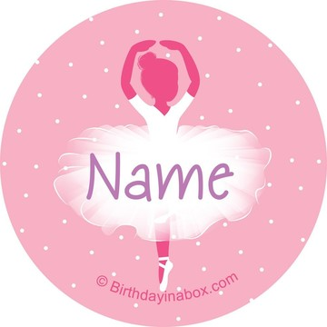 Ballerina Personalized Mini Stickers (Sheet of 20)