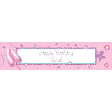 Ballet Personalized Banner (each)