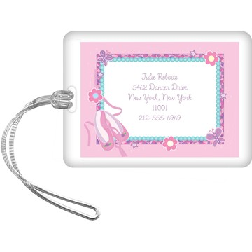 Ballet Personalized Luggage Tag (each)