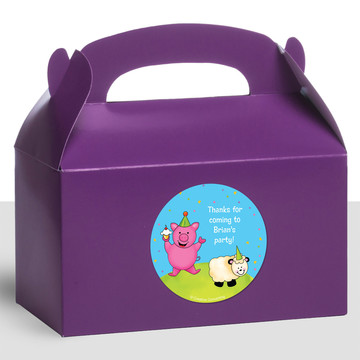 Barnyard Personalized Treat Favor Boxes (12 Count)