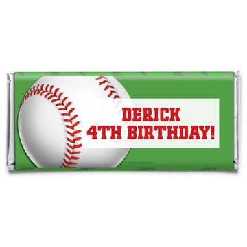 Baseball Party Personalized Candy Bar Wrapper (Each)