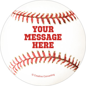 Baseball Personalized Mini Stickers (Sheet of 24)