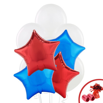 Red & Blue Star Balloon Bouquet