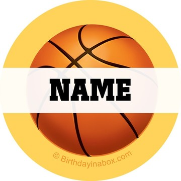 Basketball Party Personalized Mini Stickers (Sheet of 20)