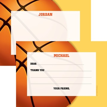 Basketball Party Personalized Thank You Note