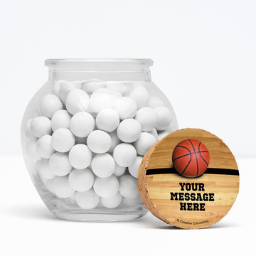 "Basketball Personalized 3"" Glass Sphere Jars (Set of 12)"