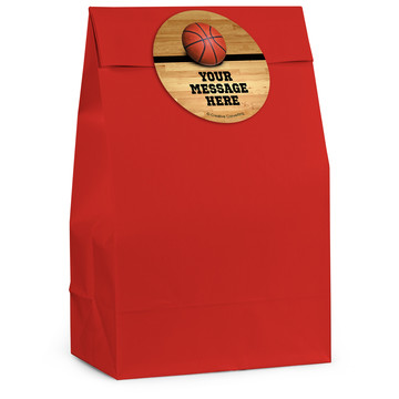 Basketball Personalized Favor Bag (12 Pack)