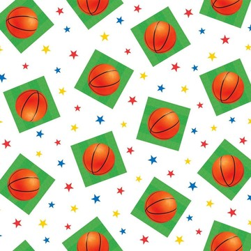 Basketball Plastic Table Cover (Each)