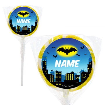 "Bat Personalized 2"" Lollipops (20 Pack)"