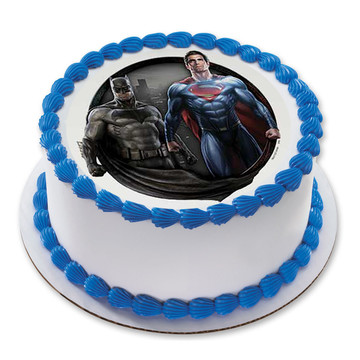 "Batman v Superman 7.5"" Round Edible Cake Topper (Each)"