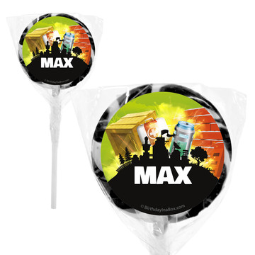 "Battle Game Personalized 2"" Lollipops (20 Pack)"