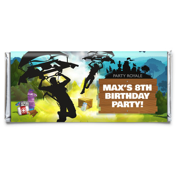 Battle Game Personalized Candy Bar Wrapper (Each)