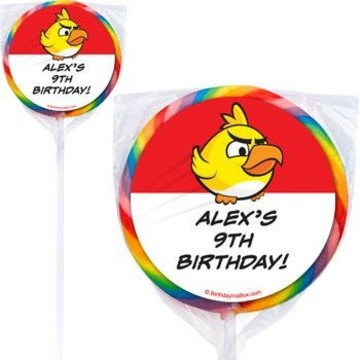 Birds Personalized Lollipops (pack of 12)