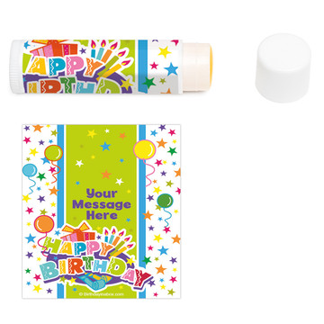 Birthday Burst Personalized Lip Balm (12 Pack)