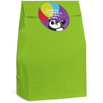 Birthday Panda Personalized Favor Bag (12 Pack)
