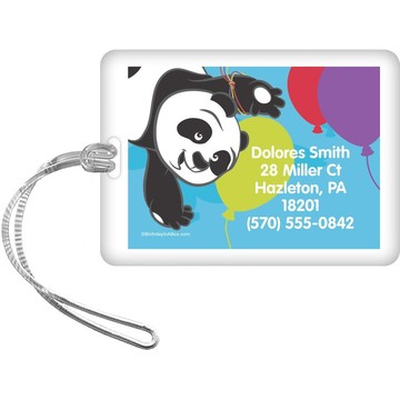 Birthday Panda Personalized Luggage Tag (Each)