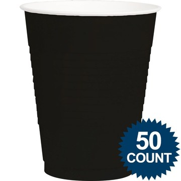 Black Plastic 16oz. Cup (50 Pack)