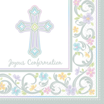 Blessed Day Confirmation Beverage Napkin (36)