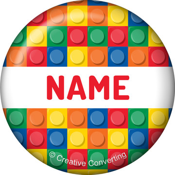 Block Party Personalized Mini Button (Each)