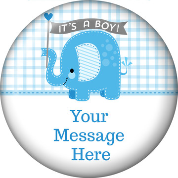 Blue Elephant Personalized Magnet (Each)