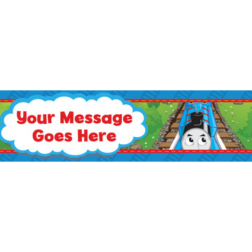 Blue Tank Engine Personalized Banner (Each)