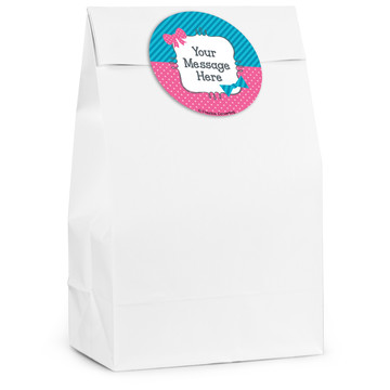 Bow or Bowtie Gender Reveal Personalized Favor Bag (12 Pack)