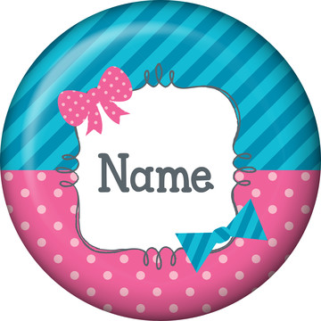 Bow or Bowtie? Personalized Mini Button (Each)