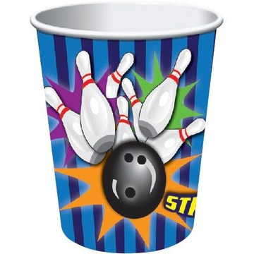 Bowling 9 Oz Cups (8 Pack)