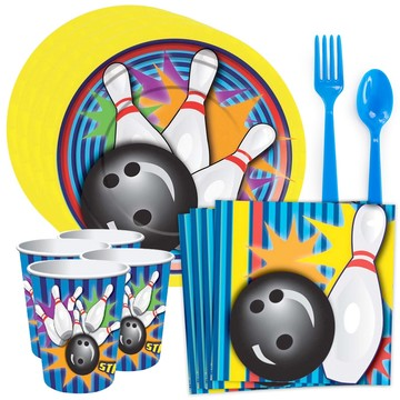 Bowling Party Standard Tableware Kit (Serves 8)
