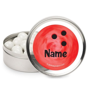 Bowling Personalized Candy Tins (12 Pack)