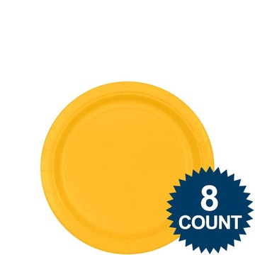Bright Yellow 7  Paper Plate ...  sc 1 st  Wholesale Party Supplies & Paper Plastic Plates Yellow Tableware | Wholesale Party Supplies