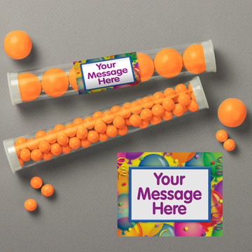 Brilliant Balloons Personalized Candy Tubes (12 Count)