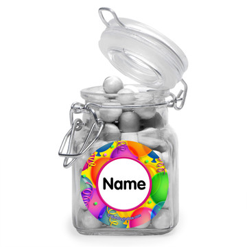 Brilliant Balloons Personalized Glass Apothecary Jars (10 Count)