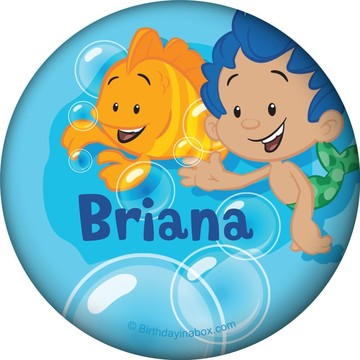 Bubble Friends Personalized Button (Each)